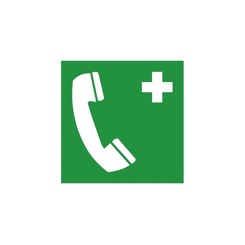 Cartel de rescate como símbolo Teléfono de emergencia según ...