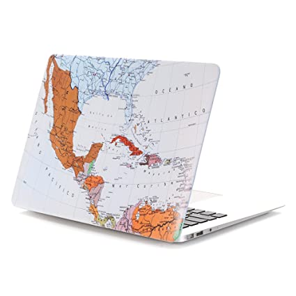 Amazon new mac 12 inch caseivy world map hard case cover for new mac 12 inch caseivy world map hard case cover for gumiabroncs Choice Image