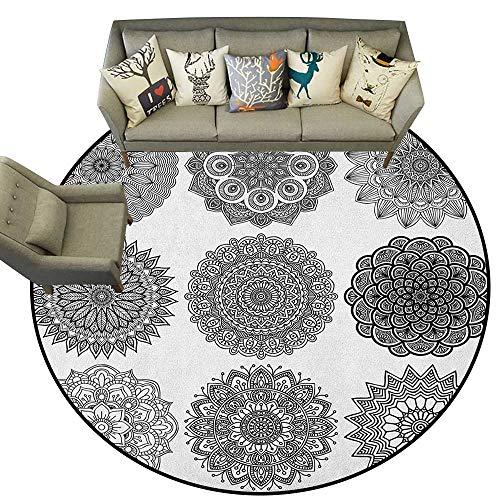 Henna,Indoor Outdoor Rugs Ornamental Mandala Design Symmetric Ethnic Motifs Eastern Arabic Ottoman Inspiration D78 Super Soft Carpet Floor Mat Home Decor