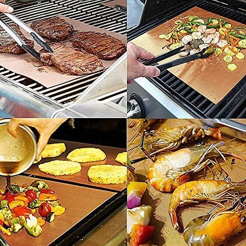 JZTRADING Plaque Cuisson Barbecue Magic Barbecue Tapis de Cuisson Grill Barbecue de Maille Tapis Four doublures pour Fan assistée Fours Barbecue Tapis