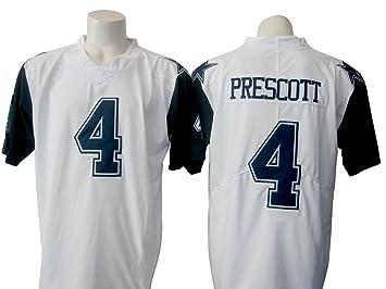 size 40 218f1 b9fd8 Mens Dak Prescott #4 Dallas Cowboys White Color Rush Legend ...