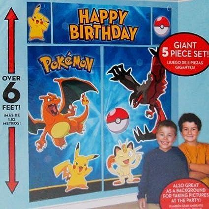 Pokemon Pikachu And Friends Wall Poster Decorating Kit