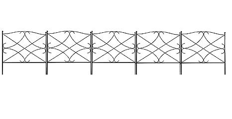 Merveilleux Amagabeli Decorative Garden Fence 24in X 10ft Outdoor Rustproof Metal  Landscape Wire Fencing Folding Wire Patio