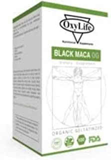 product image for Organic Gelatinized Black Maca | 1000 MG per Serving - Vegan Capsules, Non GMO…