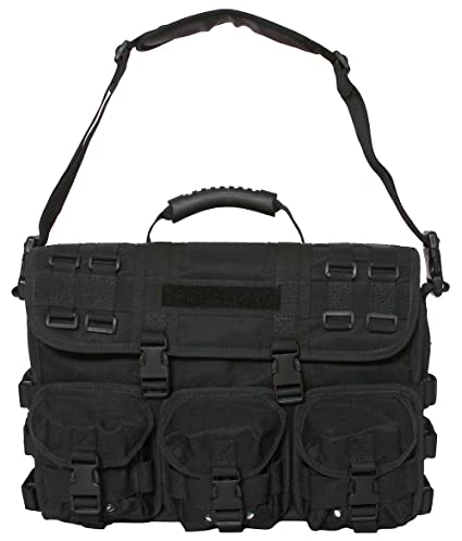 Amazon.com  Black Tactical Field Briefcase MOLLE Advanced Response ... e83a11dc286
