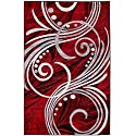 New Summit Elite # 49 Burgundy Black Grey Color Transitional Swirl Area Rug Modern Abstract Rug Many Sizes Available 2x3 2x7 4x6 5x7 8x11 (22'' inch x 7' foot long hall way runner )