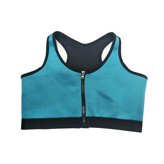 YeeHoo Faja Reductora Chaleco modelador Corporal Mujer Sujetador Deportivo Camiseta Reductora Compresion de para la Pérdida de Peso, Musculación, Cardio, ...