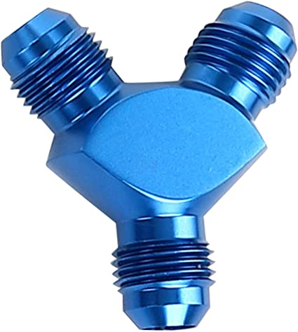 Aluminum 3AN AN3 Flare to 1//4 NPT Male Hose Fitting Adapter Union Fuel Oil Line Pipe Connector JIC 3AN 3//8-24 Male Flare to 1//4 NPT Male Thread Blue Anodized