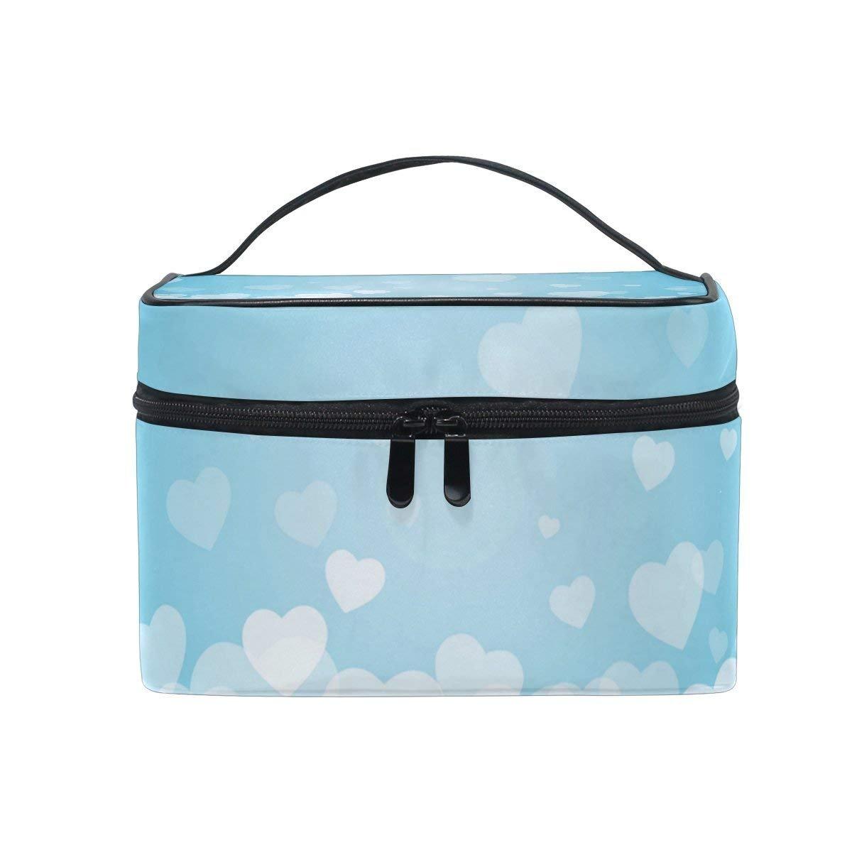 Makeup Bag Love Heart Mens Travel Toiletry Bag Mens Cosmetic Bags for Women Fun Large Makeup Organizer