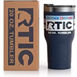 RTIC Insulated Travel Tumbler, Stainless Steel Mug, Hot Or Cold Drinks, with Splash Proof Lid, 20Oz, Navy