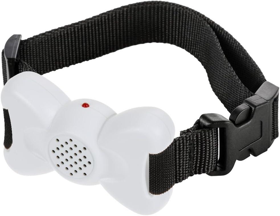 No Shock No Spiky Prongs Humane and Safe Training Device White Vibration and Sound Anti Bark Collar Zacro DC295 Dog No Bark Collar