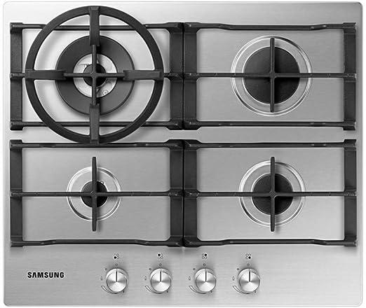 Samsung NA64H3030AS - Placa de gas de acero inoxidable con soporte para wok: Amazon.es: Grandes electrodomésticos