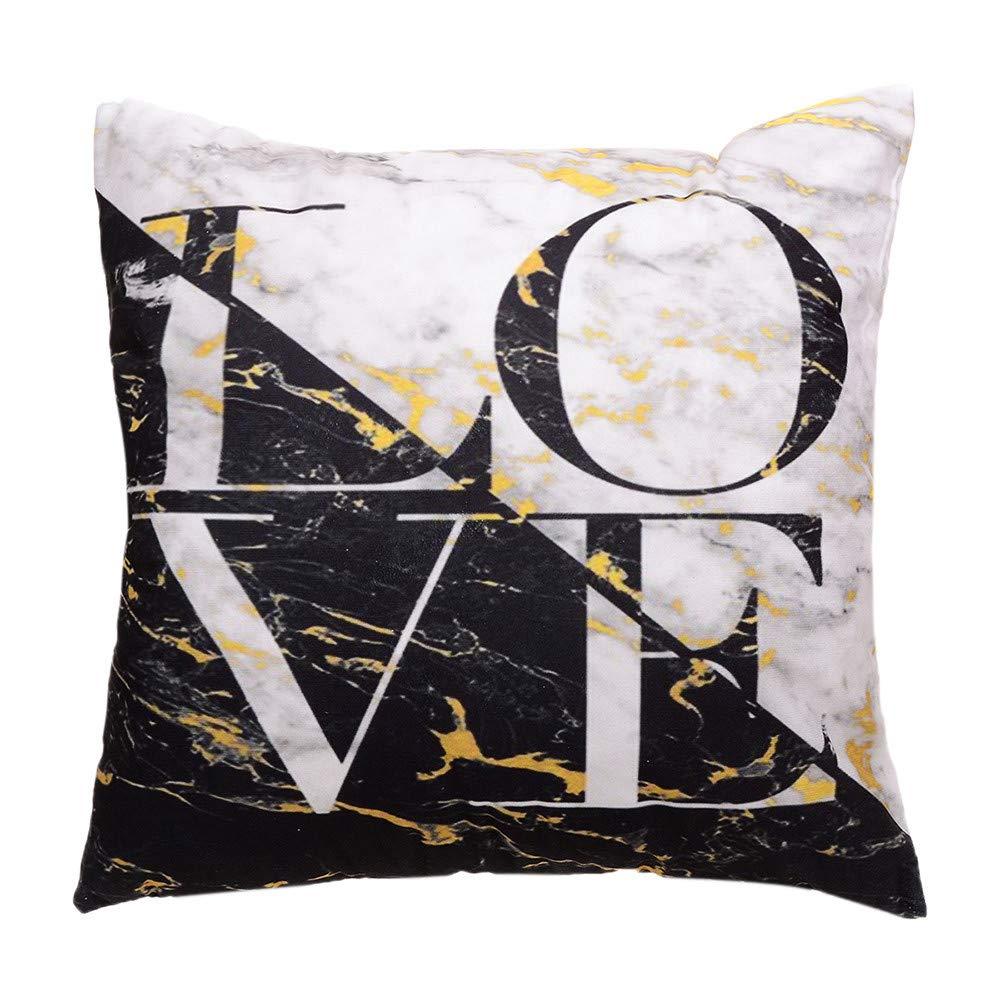 Hongxin Pillow Case,1PC 45×45cm Flannel Simple Upholstery Cushion Cover Flannelette Throw Pillow Cases Home Decor (E, 45×45cm)