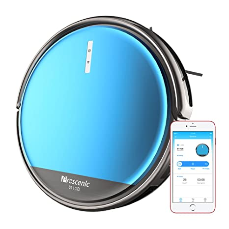 Proscenic 811GB Robot Vacuum Cleaner, Robotic Vacuum Cleaner with APP and Alexa Control, Boundary Magnetic Marker, Electric Control Water Tank(3 ...
