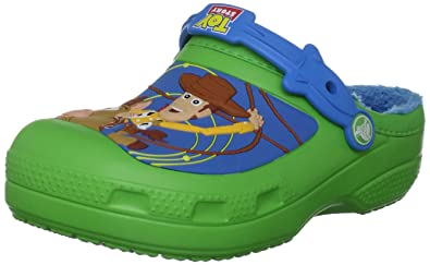 Crocs Junior Woody  Buzz Lightyear Lasso Lined Clog LimeOcean Mules And  Clogs Sandal