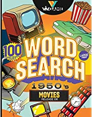 Word Search 1950's Movies: 100 Word Search Puzzle In Large Print Look Back to 1950s Hollywood Retro Movies And Celebrity Word Game Puzzle, Hours of Fun Word Game For Seniors