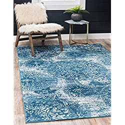 Unique Loom Sofia Collection Traditional Vintage Blue Area Rug (4' x 6')