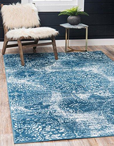Unique Loom Sofia Collection Traditional Vintage Blue Area Rug (4' x 6')