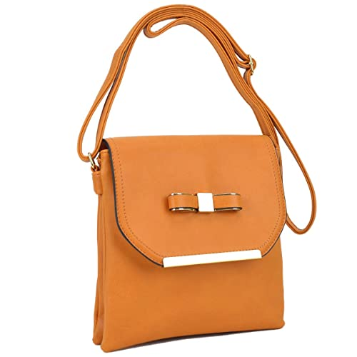 ae945e79826 Image Unavailable. Image not available for. Color  Dasein Fashion Flap Crossbody  Bags for Women Tassel Messenger Bag w Double Zipper Compartments (