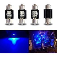 "iBrightstar Newest 9-30V Extremely Bright DE3175 DE3021 Festoon Error Free 1.25"" 31mm LED Bulb for Interior Map Dome…"