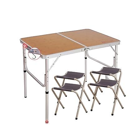 TTZDZ Mesa para Acampada 90cm x 60cm(L & W) de Aluminio Plegable ...