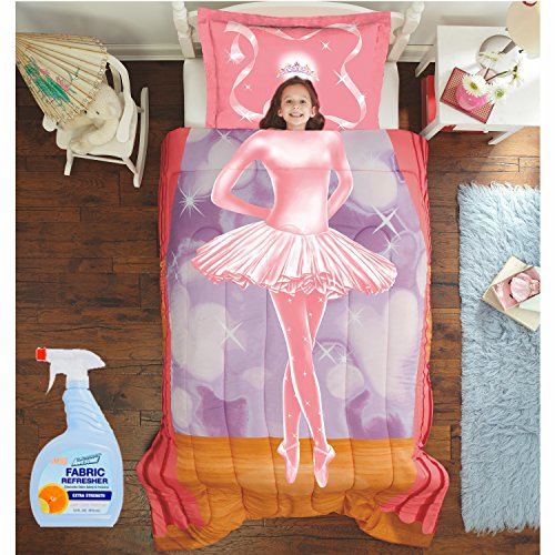 NEW! Dream Big Ballerina 2-Piece Twin/Full Comforter Set with Fabric Refresher by MegaMarketing