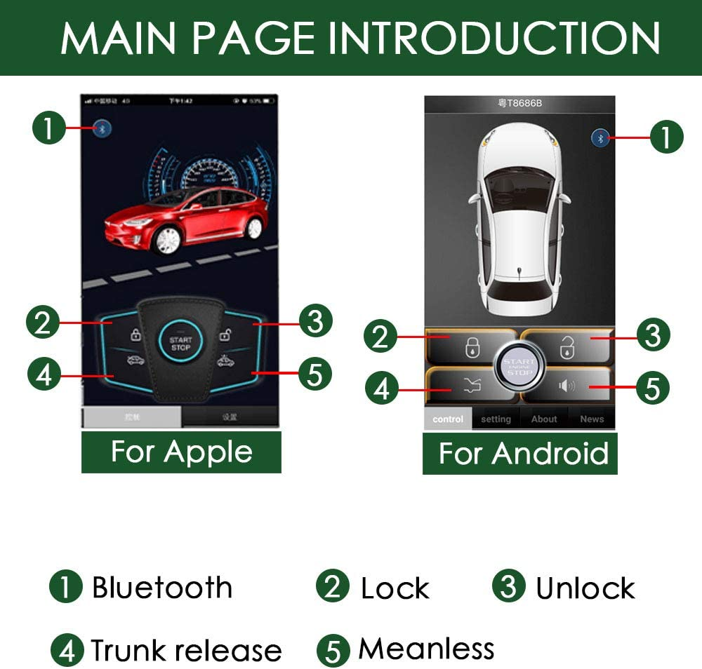 Shaking Phone//App Control//Phone Sensor Old Car Upgrade Keyless Entry Close Windows Open Trunk Automatically 3 Ways Lock//Unlock The Car