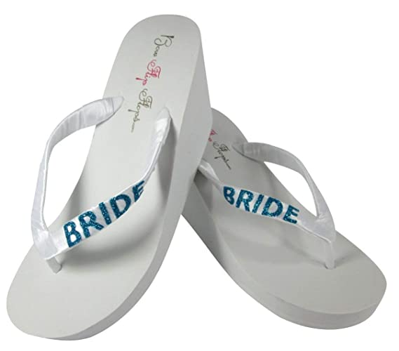 306cbe336ec8fd Amazon.com  Turquoise Glitter Bride Wedges - choose your own color Bling  and Ivory or White  Handmade