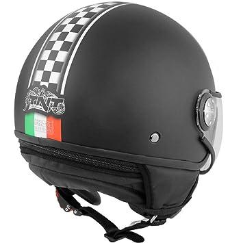tnthe 441729 a auricular 1/2 Jet Puck Cafe Racer Italia, talla XS)