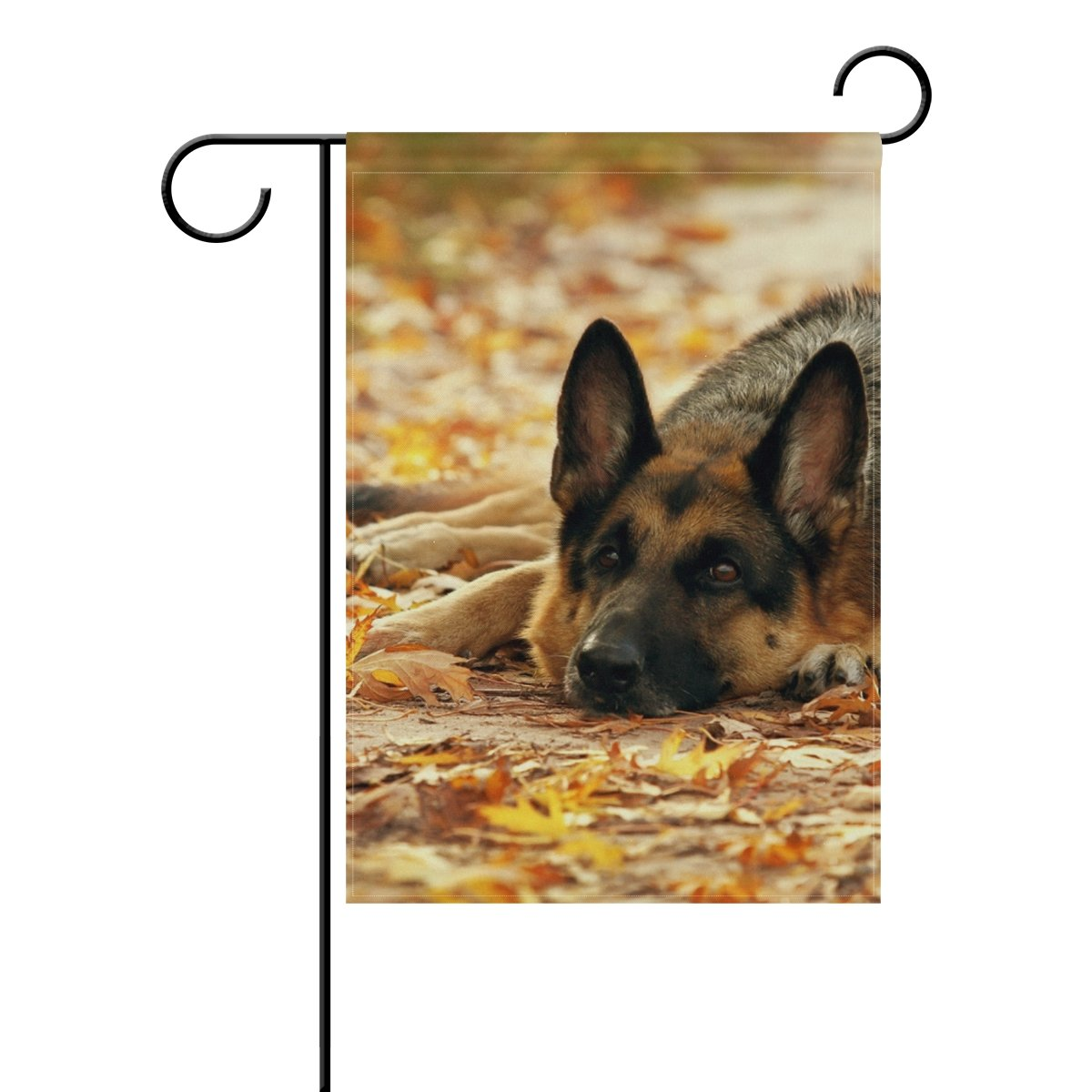 My Daily German Shepherd Dog Autumn Leaves Decorative Double Sided Garden Flag 12 x 18 inch