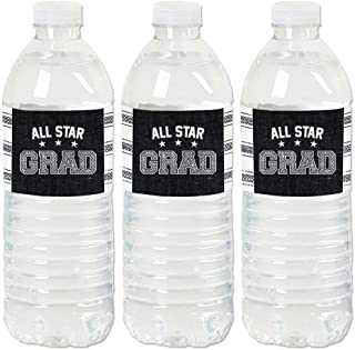 product image for Big Dot of Happiness All Star Grad - Graduation Party Water Bottle Sticker Labels - Set of 20