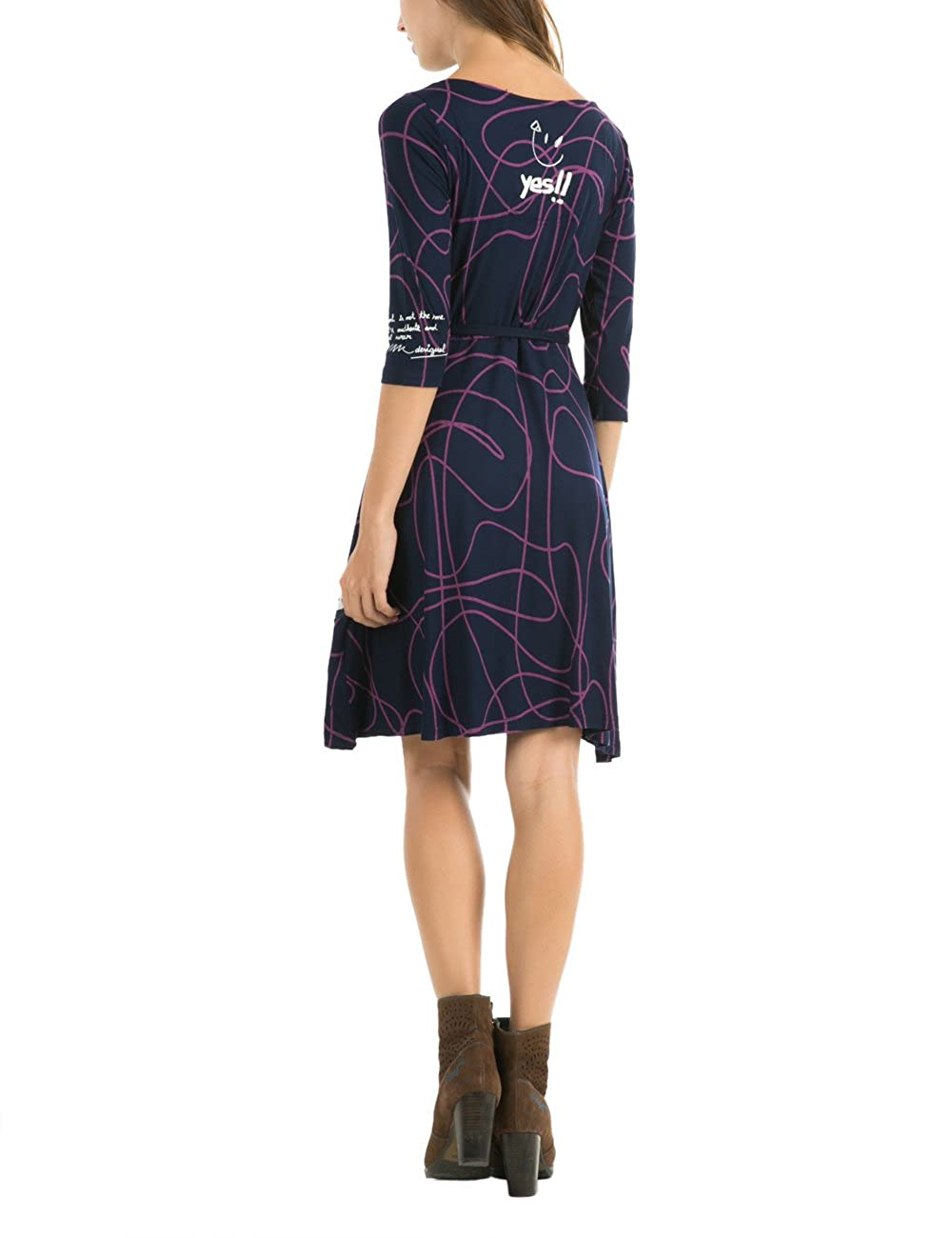 Desigual Womens Vest Charissa, Navy, Medium at Amazon Womens Clothing store:
