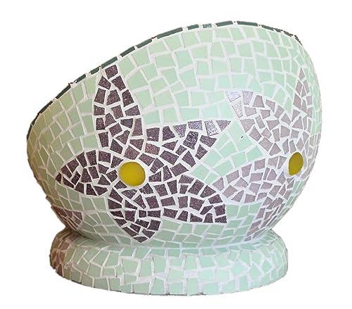 handgemacht Mosaik Osterei hellgr/üne Blumenwiese 10 cm