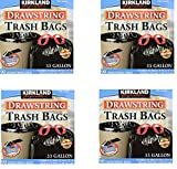 Kirkland Signature Drawstring Trash Bags - 33 Gallon - Xl Size - (90 count) (4 Pack - 90 Count)