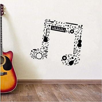 Finloveg Nota Musical Etiqueta De La Pared Guitarra Saxofón Flauta ...