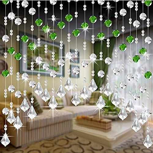 Guo Nuoen Bead Curtain Crystal Glass Birthday Wedding Party Decor Luxury Living Room Bedroom Window Door Divider 1 M -