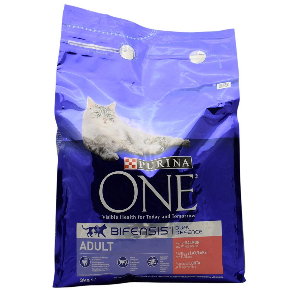 2 Purina One Bifensis Dual Defence Rich in Salmon 2 x 3kg