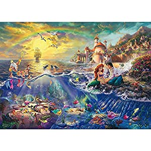 Anime Drawing Art Puzzle Mermaid Love Manga Anime Illustration, Basswood Painting Puzzle, Perfect Cutting and Stitching, 300~1500 Pieces Boxed Photography Painting Toy Game -HCXPT (Size : 1000pc)