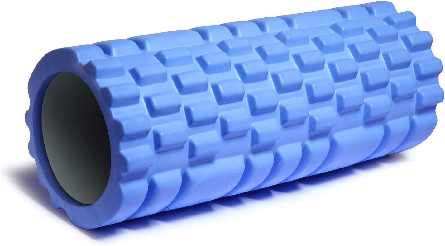 IHOMEGAR Rouleau de Massage,Foam Roller Mousse EVA Rouleau Sport,Rouleau Fitness Léger Haute densité pour Massage Musculaire en Profondeur- Roller Pilates Fitness Yoga Gym Equilibre