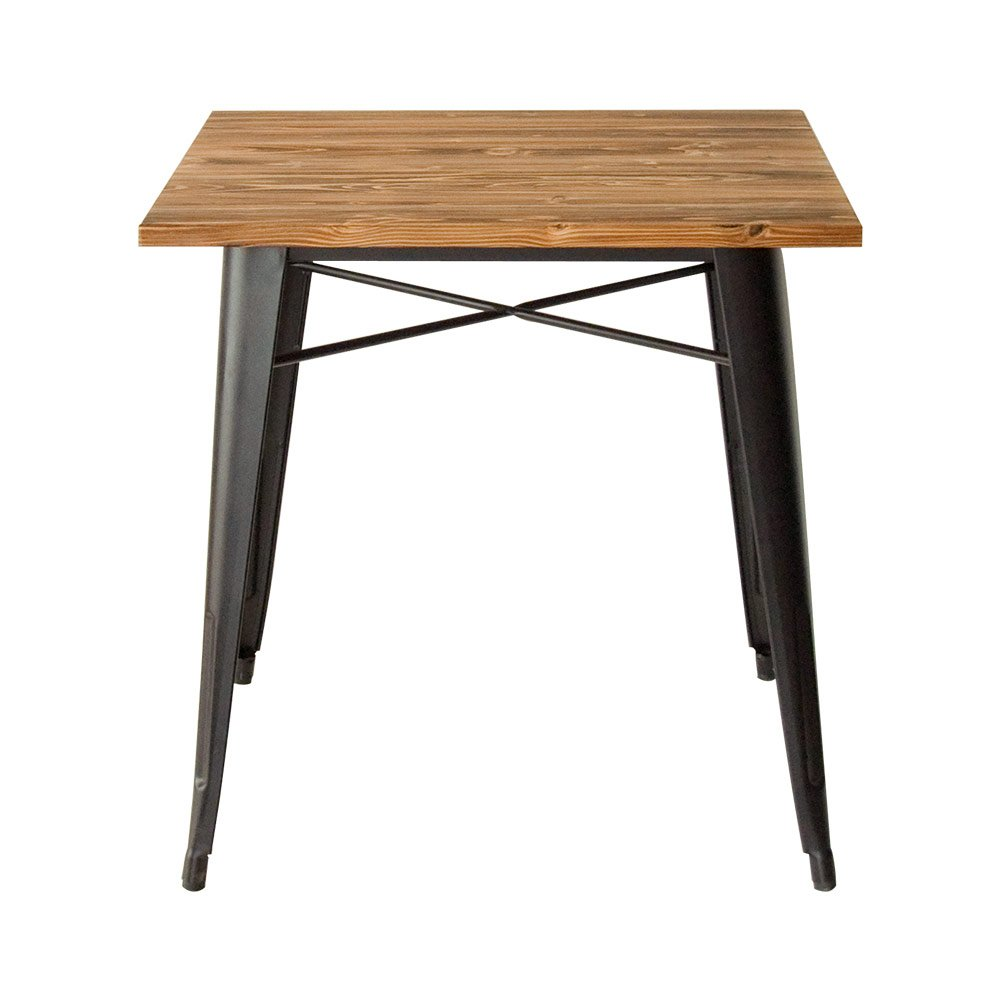 エアリゾーム ダイニングテーブル 2人用 おしゃれ 木製 正方形 カフェ 食卓テーブル Lewis〔ルイス〕 76×76cm テーブル単体 ブラック B06XXVYFSXブラック