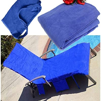 KRWHTS Chaise Lounge Pool Chair Cover Beach Towel Fitted Elastic Pocket Won\'t Slide Blue21075cm(82.5'x29.5) 8 : Garden & Outdoor [5Bkhe0801853]
