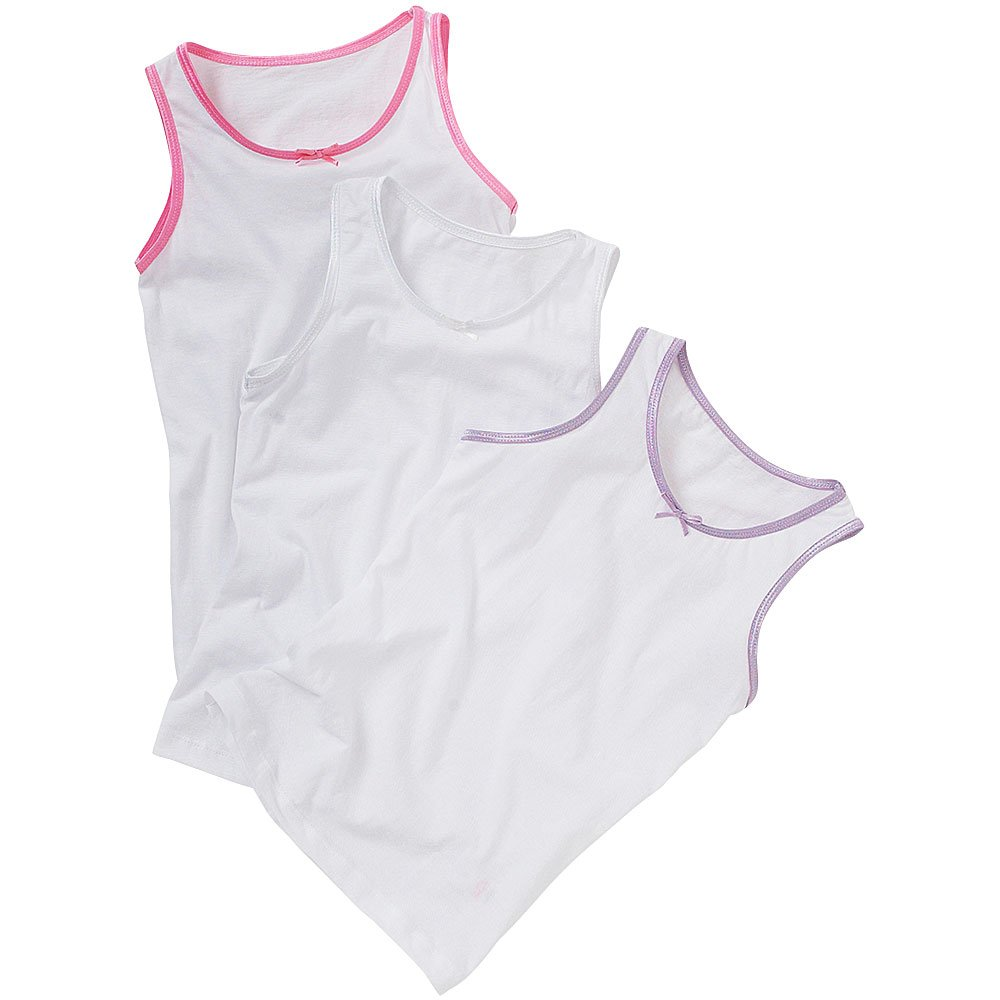 Just Essentials Girls Back To School 3 Pack Cotton Vests