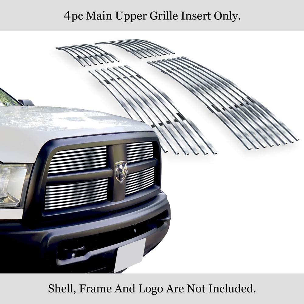 APS Compatible with 2010-2012 Dodge Ram 2500 3500 Chrome Polished Stainless Steel Billet Grille N19-C46866D