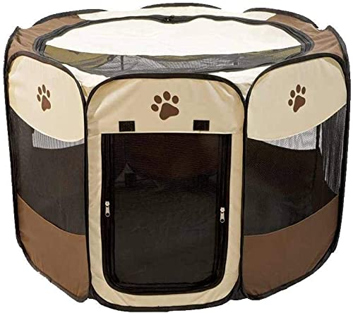 Etna Portable Foldable Pet Playpen For Dogs, Paw Print – Indoor and Outdoor Use, Medium Large Sized Pets – Pop-Up, Traveling, Kennel Design, Ideal for Keeping Pets Safe and Secure – 36 x 23 Inches