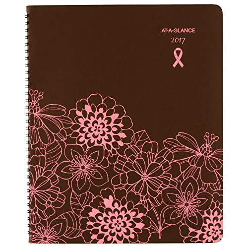 "AT-A-GLANCE Monthly Planner / Appointment Book 2017, 8-1/2 x 11"", Sorbet, Brown/Pink (794900)"