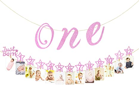 One Banner High Chair Banner I Am One Banner One Girl One Boy 1st Birthday Banner Bunting Baby Shower Decoration