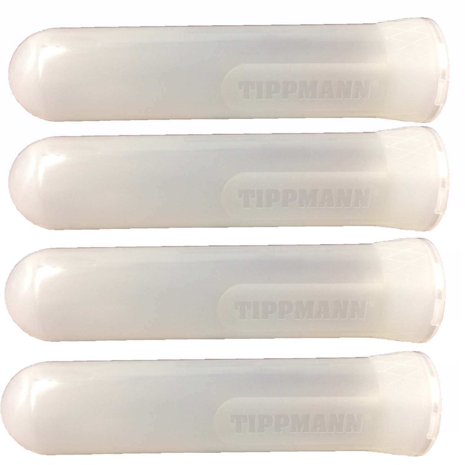 Tippmann Paintball Heavy Duty 140 Round Guppy Pods, Clear, Pack of 4 by Tippmann