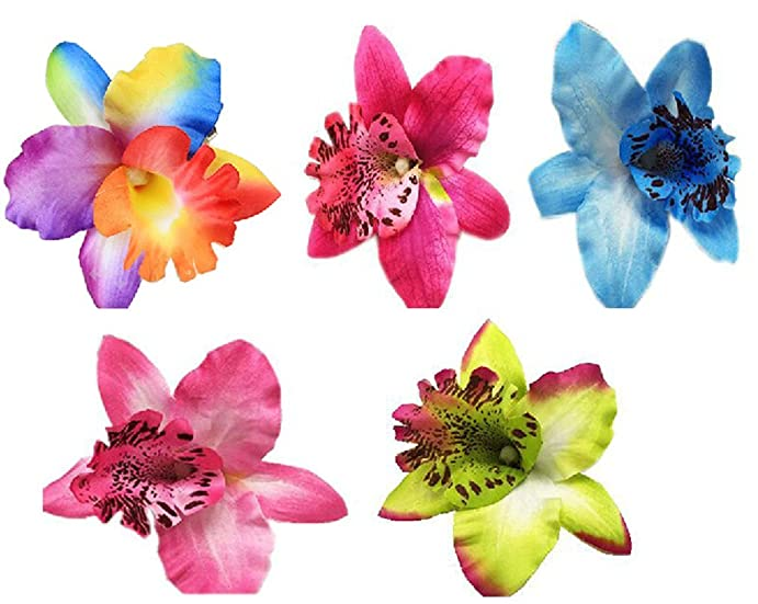 5 pcs girls soft flower hair clip and pin thailand styles flowers 5 pcs girls soft flower hair clip and pin thailand styles flowers hair clip blue mightylinksfo