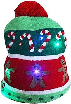 BBTO 2 Piezas de Navidad LED Sombreros Iluminados Punto Feo Su/éter Sombrero para Fiesta de Navidad