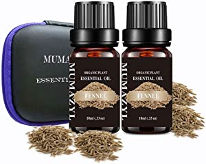 Fennel Essential Oil Set Organic Plant Natural 100% Pure Therapeutic Grade Fennel Oil for Diffuser,Cleaning,Home,Bedroom,SPA,Massage,Aromatherapy,Perfumes,Humidifier,Skin,Soap,Candles 2 Pack 10ml